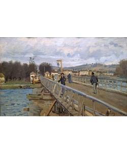 Alfred Sisley, Holzbrücke in Argenteuil. 1872.