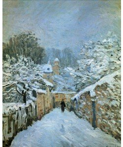 Alfred Sisley, Louveciennes im Schnee. 1878
