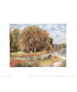 Pierre-Auguste Renoir, Blühender Kastanienbaum (Offset)
