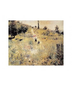 Pierre-Auguste Renoir, Aufsteigender Weg im Grünen (Offset)