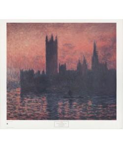 Claude Monet, Sunset- Houses of Parliament