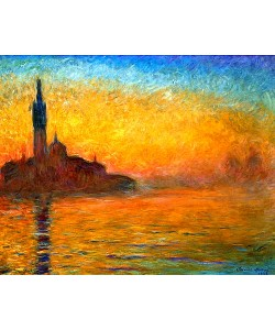 Claude Monet, Venedig bei Sonnenuntergang. 1908