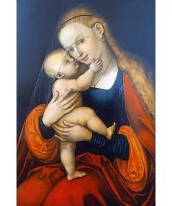 Lucas Cranach d.Ä., Maria Hilf (Passauer Gnadenbild). Nach 1537