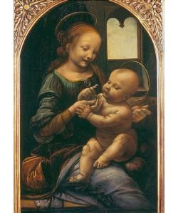 Leonardo da Vinci, Madonna Benois (Madonna mit der Blume). Um 1478