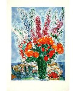 Chagall Marc Bouquet de Renoncules, Prägesig. (Lithographie, nummeriert)