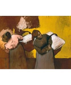 Edgar Degas, Wäscherinnen beim Austragen der Wäsche. 1876/78.