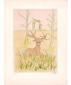 Dali Salvador 659 Der kranke Hirsch (1974) (Radierung, handsigniert, nummeriert)
