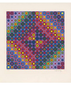 Vasarely Victor Diam I (1988) (Lithographie, handsigniert)