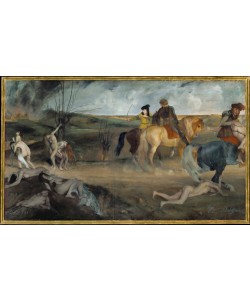 Edgar Degas, Scene du guerre au Moyen Age