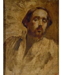 Edgar Degas, Portrait de l'artiste en blouse d'atelier