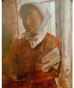Edgar Degas, Junge Frau mit weißem Kopftuch