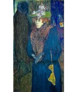 Henri de Toulouse-Lautrec, Jane Avril entrant au Moulin-Rouge