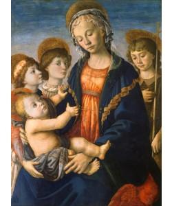 Sandro Botticelli, Maria mit Kind, dem Johannesknaben und zwei Engeln