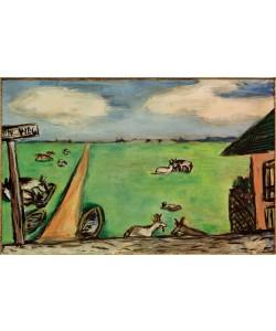 Max Beckmann, Grüne Wiese mit Kühen