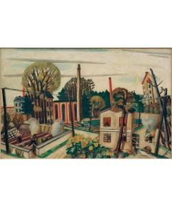 Max Beckmann, Landschaft bei Frankfurt, mit Fabrik
