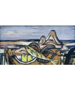 Max Beckmann, Landschaft mit frutti di mare