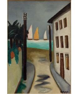 Max Beckmann, Kleine Landschaft. Viareggio