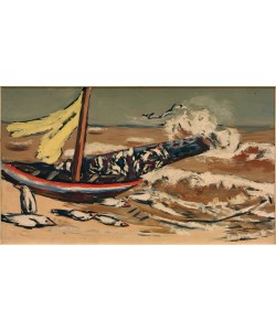 Max Beckmann, Braunes Meer mit Möwen
