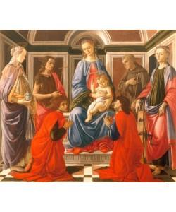 Sandro Botticelli, Thronende Madonna mit dem Kinde und
