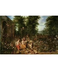 Jan Brueghel der Ältere, Flora im Blumengarten