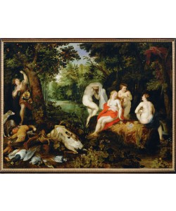 Jan Brueghel der Ältere, Rast der Diana nach der Jagd
