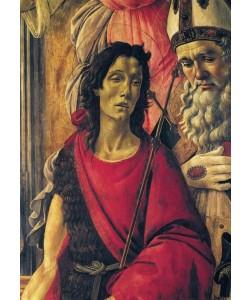 Sandro Botticelli, Thronende Madonna mit dem Kinde, Engeln und Heiligen