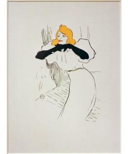 Henri de Toulouse-Lautrec, Yvette Guilbert dans Linger longer loo