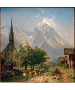 Heinrich Bürkel, Die alte Pfarrkirche in Garmisch