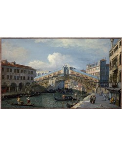 Giovanni Antonio Canaletto, Die Rialto-Brücke von Süden