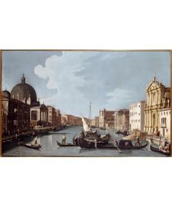 Giovanni Antonio Canaletto, Canal Crande in südwestlicher Richtung mit S.Simeone Piccol