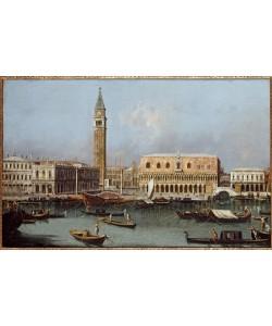 Giovanni Antonio Canaletto, Ansicht des Molo vom Bacino di S.Marco