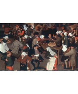 Pieter Brueghel der Jüngere, Der Hochzeitstanz im Innenraum