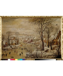 Pieter Brueghel der Jüngere, Winterlandschaft mit Vogelfalle