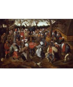 Pieter Brueghel der Jüngere, Der Hochzeitstanz im Freien