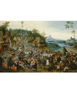 Pieter Brueghel der Jüngere, Tanzende Bauern um einen Maibaum