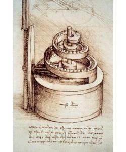 Leonardo da Vinci, Triebfeder einer Uhr