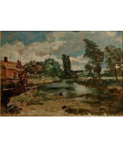 John Constable, Die Flatford-Mühle von der Schleuse aus gesehen