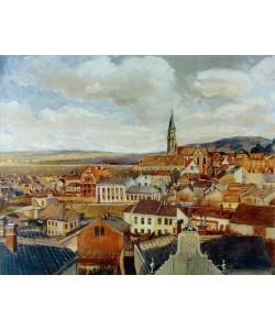 Egon Schiele, Blick vom Zeichensaal des Realgymnasiums Klosterneuburg auf