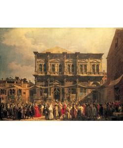 Giovanni Antonio Canaletto, Visita del Dux a Iglesia San Rocco