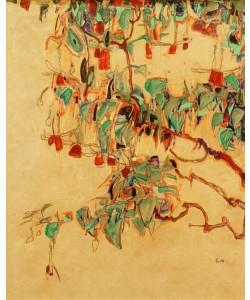 Egon Schiele, Fuchsienzweige ('Sonnenbaum')