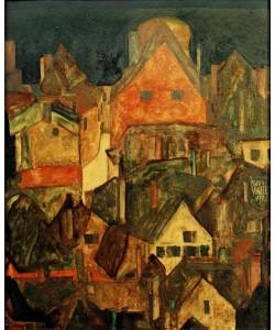 Egon Schiele, Krumau bei Nacht