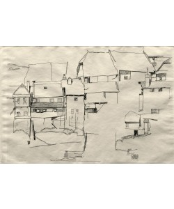 Egon Schiele, Alte Häuser in Krumau