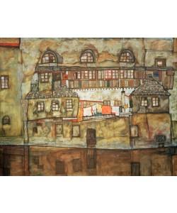 Egon Schiele, Hauswand am Fluß