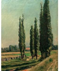 Gustave Caillebotte, Peupliers sur la digue d'Argenteuil, au Petit Gennevilliers