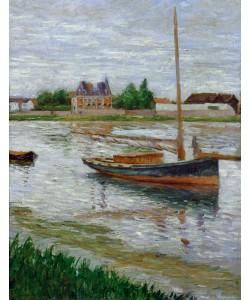 Gustave Caillebotte, Bateau à l'ancre sur la Seine à Argenteuil