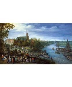 Jan Brueghel der Ältere, Dorf am Fluss
