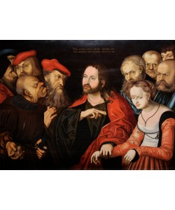 Lucas Cranach der Ältere, Christ and the Woman Taken in Adultery