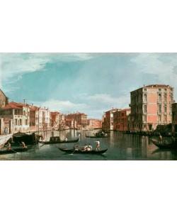 Giovanni Antonio Canaletto, Canale Grande mit dem Palazzo Bembo