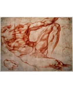 Michelangelo Buonarroti, Liegender männlicher Akt