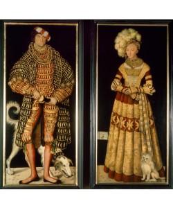 Lucas Cranach der Ältere, Doppelbildnis Herzog Heinrich der Frommen und Katharina von Mecklenburg
